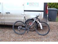 carbon 29er mtb, carbon wheels, dt swiss xmm100 forks, xt brakes