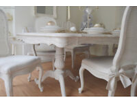 !!! WOW *** !!! CHRISTMAS SALE !!! *** French Antique Shabby Chic Dining Table & Six Chairs !!!
