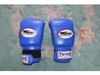 Twins Thai Boxing Gloves 10 oz Blue - Muay Thai, MMA, Boxing