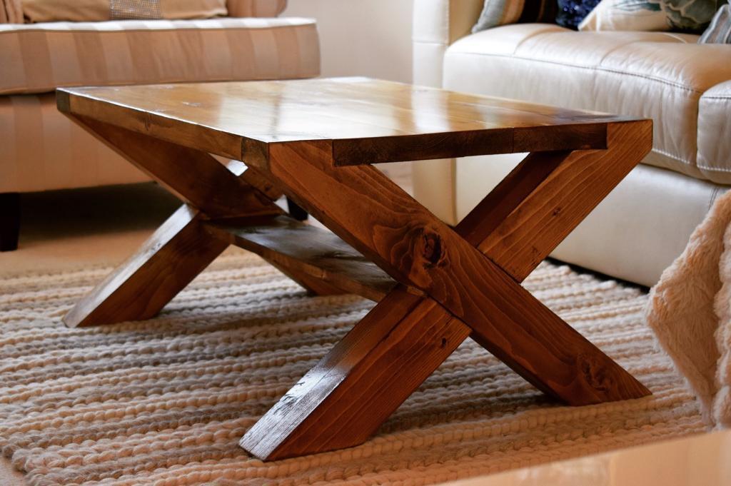 New Handmade X Leg Coffee Table
