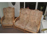 Conservatory furniture - Settee and chair in very good condition