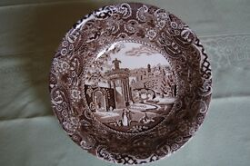 W.R. Midwinter 'Landscape' Large Serving Bowl, Perfect Condition, as New