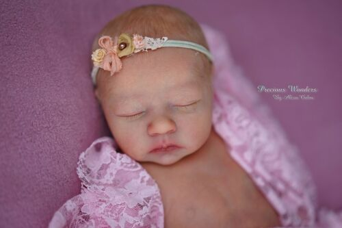 "Alma Sleeping *Realborn ~ 19"" Reborn Vinyl Doll Kit/COA ~ by Bountiful Baby"