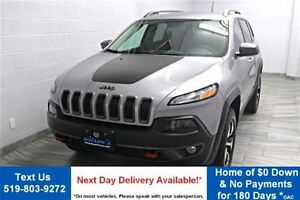 2016 Jeep Cherokee TRAILHAWK 4WD 2.4L w/ PARTIAL LEATHER! REVERS