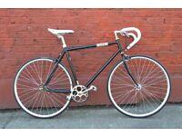 Brand new single speed fixed gear fixie bike/ road bike/ bicycles + 1year warranty & free service bw