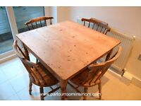 OLD VICTORIAN PINE FARMHOUSE TABLE C.1880