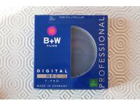 B+W 62mm KSM (Kasemann) MRC F-PRO Polariser Filter