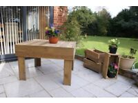 Large bespoke garden table (4 person). ,would look nice in any garden