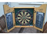 Phil Taylor branded dart board and chalk board - well used.