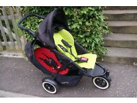 Phil and Teds Dot Double Buggy with Cocoon, Double kit & waterproof cover