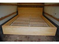IKEA MALM / 160 x 200cm bed frame / Oak veneer