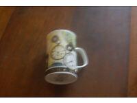 Dunoon Millenium Timepiece retro vintage china mug