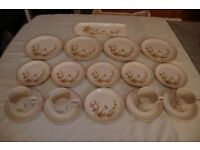 M & S Harvest China, 37 Items, Plates, Salt & Pepper,Teapot, Jug, etc All in Excellent Condition