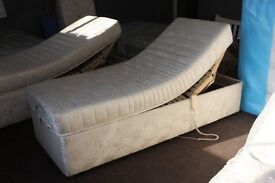 2ft6 Small single size electric adjustable bed. Mattress and bed base