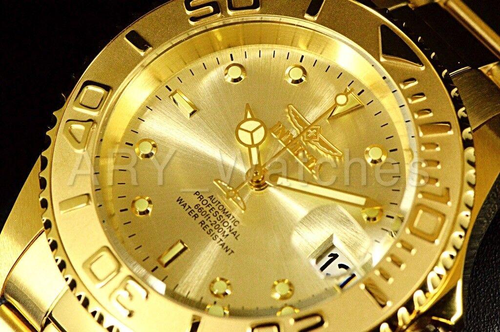 9010OB Invicta Men's Pro Diver COIN EDGE Automatic Yellow Go