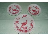 Spode 'Chelsea Birds' in Red, both Beautiful and Rare, part service.
