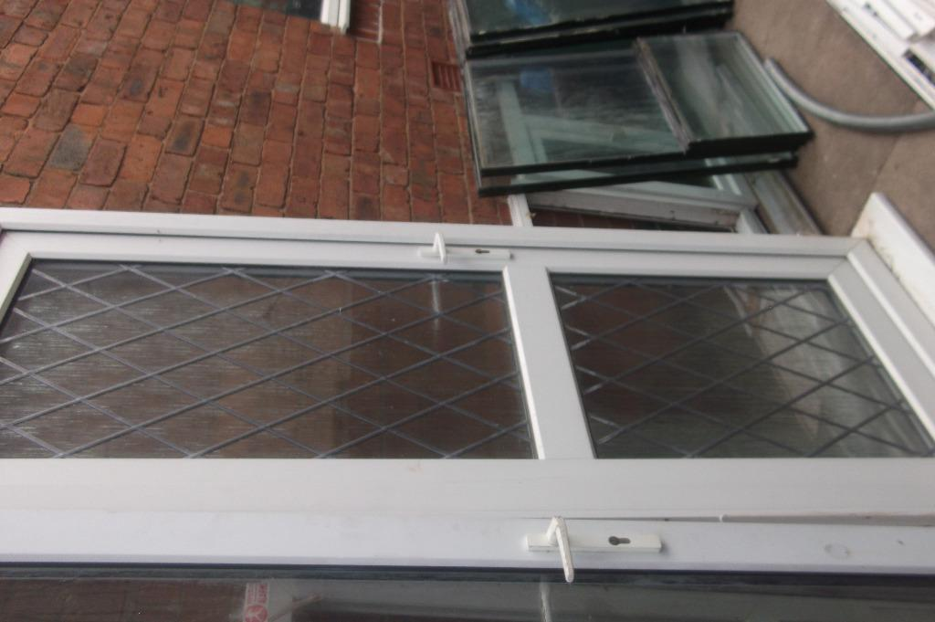 Double glazed back door frame with 3 new keys in for Double glazed door and frame
