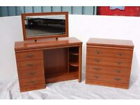 4 Drawer Chest of Drawers Plus Dressing Table and Mirror.