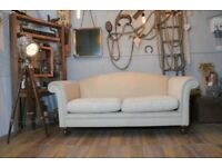 Laura Ashley Gloucester Fabric Sofa Couch Cream