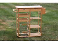 Pine wooden kitchen trolley cart - current Argos item 835/5788 - good condition