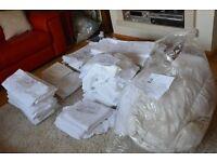 Joblot Job lot - white bedding sheets linen duvet covers & suitable for hotel guest house B&B hostel