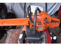 husqvarna 236 chainsaw with 16 inch bar and chain in excellent condition