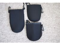 lens pouches 2 x medium and 1x large