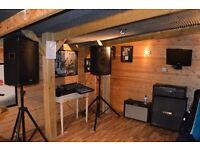 Rehearsal Studio - fully equipped - PA, microphones, drums, guitar and bass amps and speakers!