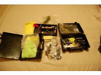 Fly tying kit for fly fishing.