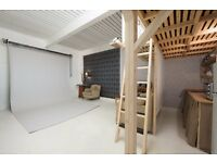 PHOTOGRAPHY STUDIO TO HIRE £60 HALF DAY/£90DAY. STOKE NEWINGTON LONDON