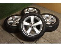 "Genuine VW Golf MK7 16"" Sima Alloy wheels & Winter Tyres 5x112 Snow Audi Passat Caddy Alloys"