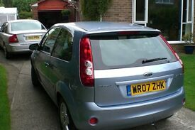 Ford Fiesta 2007 Hatchback Blue, 72500 Miles, Air Con, Electric Heated Front Window, Folding Mirrors