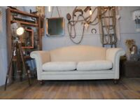 Laura Ashley Gloucester Fabric Sofa Couch Cream