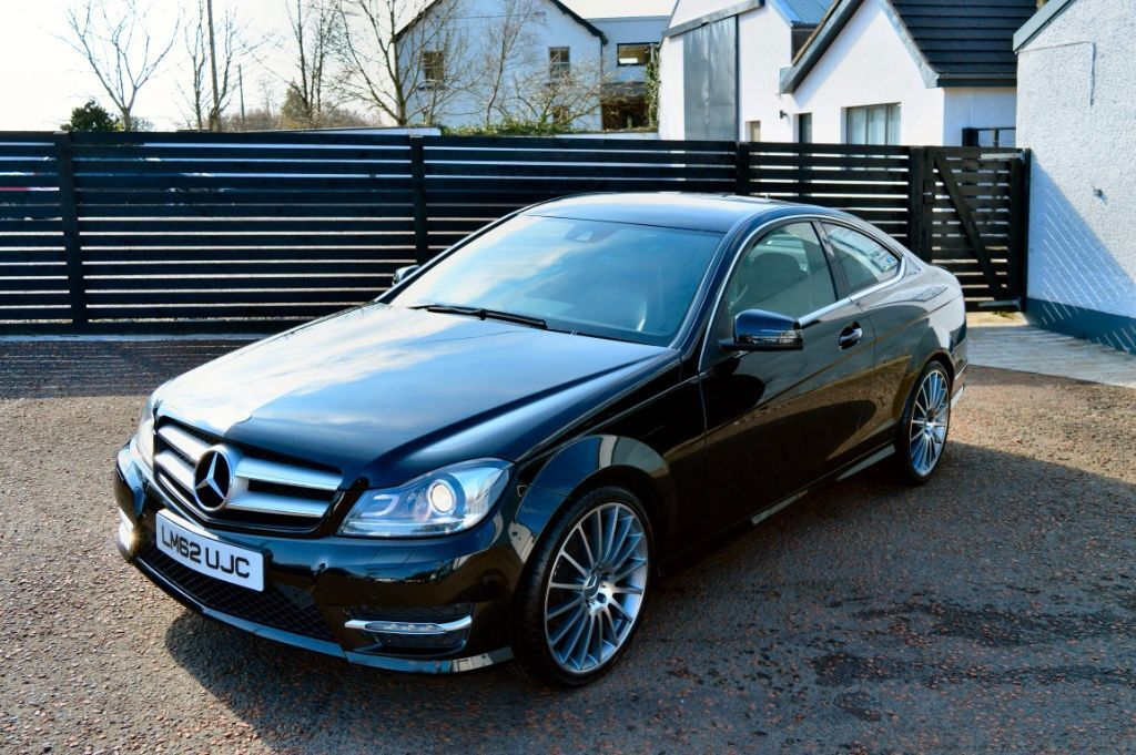 late 2012 mercedes c220 coupe amg sport magnetite black fmsh low rate finance in. Black Bedroom Furniture Sets. Home Design Ideas