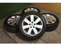 "Genuine FORD 16"" MP3 Alloy wheels & Tyres 5x108 Mondeo Focus MK2 Transit Connect Alloys"