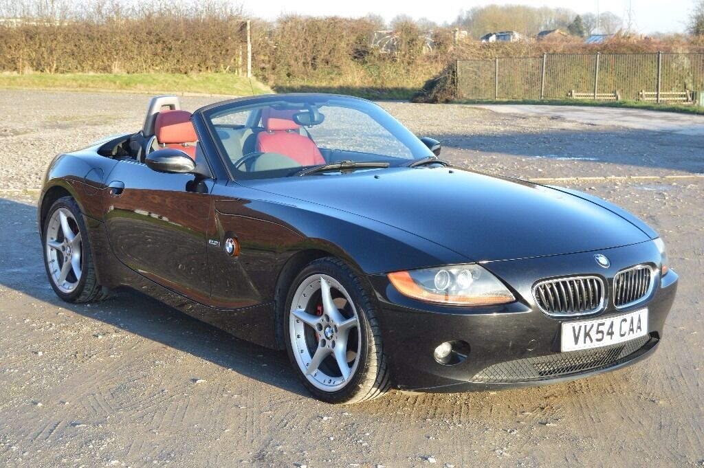 2004 54 Bmw Z4 2 2i Se In Black Red Leather Interior