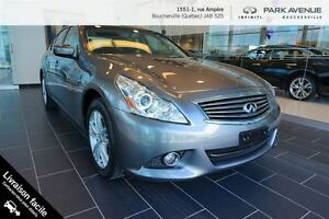 2012 Infiniti G37X G37X CUIR CAMERA BLUETOOTH**NOUVEL ARRIVAGE