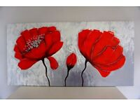 FREE painting of poppies on canvas