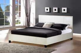 🔥💗🔥NOW IN BLACK/BROWN/WHITE🔥💗🔥New Double/King Leather Bed w 13 INCH SUPER ORTHOPAEDIC Mattress