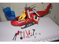 ACTION MAN FIRE HELICOPTER QUAD AND BOAT.