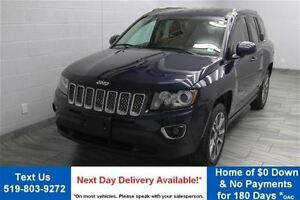 2014 Jeep Compass LIMITED 4WD w/ LEATHER! SUNROOF! HEATED SEATS!