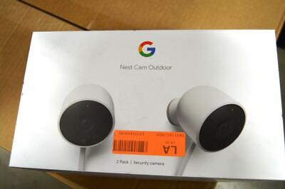Google NC2400ES Nest Cam Outdoor Security Camera - 2 Pack-