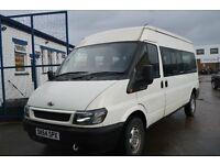 2004 Ford TRANSIT 350 LWB MINI BUS 9 seat in GOOD Condition with MOT Until 2017 NOVEMBER