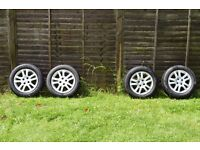 """Genuine Honda Civic 15"""" Alloy wheels + Tires Continental TS 850 & Michelin Energy Saver - Only £100"""