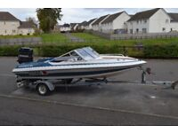 16ft Spirit speedboat with 90 HP Mercury outboard