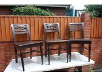 Mango Wood Dinning Chairs x 6 £60