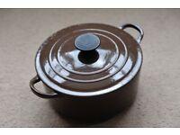 Le Creuset Cast Iron Casserole Dish 22cm, Brown - Nice Condition!