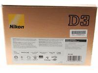 Nikon D3 low shutter count.