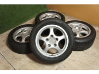 "Genuine Porsche 944 Cup 1 Staggered 16"" Alloy wheels 5x130 S1 S2 Turbo 928 Alloys"