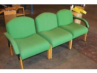 3 piece business office reception chairs, seats, seating, sofa